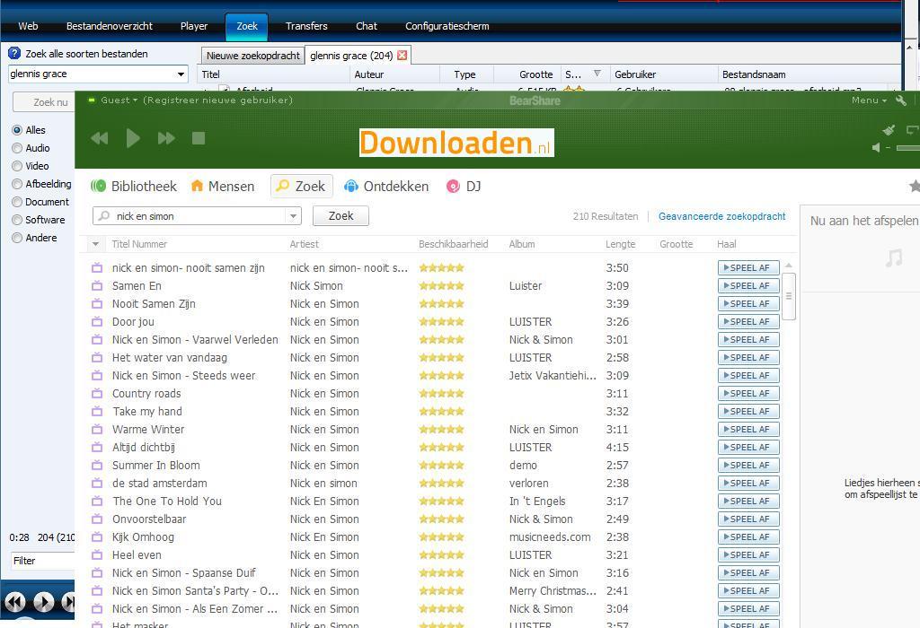 Bearshare gratis downloaden (virusvrij) 2017.