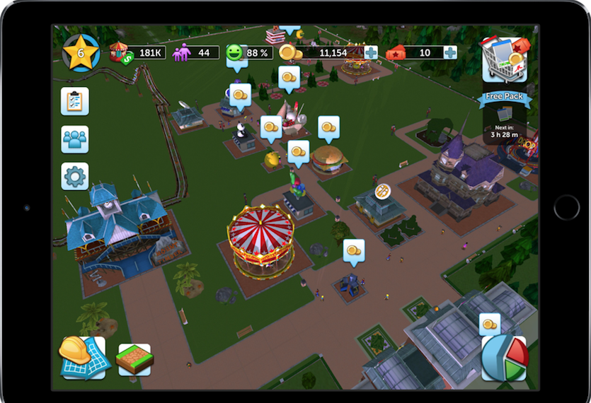 RollerCoaster Tycoon Touch - Download gratis RollerCoaster